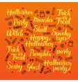 Halloween Holiday Lettering Design vector image