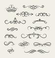 flourish scroll design elements victorian vector image