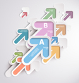 Background with colorful arrows vector image
