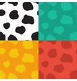 Seamless pattern with spotted cow texture vector image