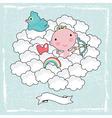 Cupid baby vector image