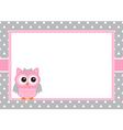 Baby Girl Owl Card vector image