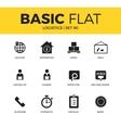 Basic set of Logistics icons vector image