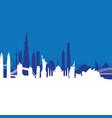 blue cityscape background vector image