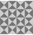 Design seamless monochrome triangular pattern vector image