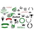 Football or soccer game symbols for sport design vector image