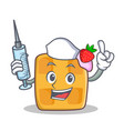 Nurse waffle character cartoon design vector image