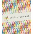 paperclips graphic design vector image