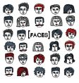 Set of cartoon faces vector image