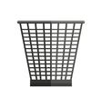Trash Basket in Flat Style vector image