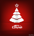 Christmas postcard with origami Christmas tree vector image vector image