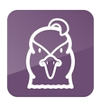 Quail icon Animal head symbol vector image