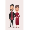 Happy jewish middle aged couple isolated vector image
