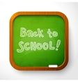 wooden school board with green background vector image