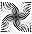 Design monochrome twirl movement background vector image