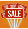 Sale Sign with a Discount Blurred Sale vector image vector image