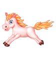 Cartoon of beautiful pink horse running vector image vector image