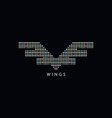 circle dot wing logotype vector image