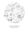 Set of sandwiches vector image