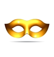 Gold carnival mask vector image vector image