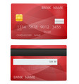 bank plastic card stock vector image