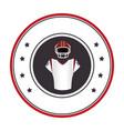 circular frame with uniform american football vector image