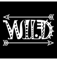 Hand Drawn Lettering Word Wild vector image