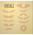 Set of vintage ornaments for design of cards invit vector image