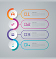 timeline infographics design with 4 options vector image