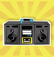 stereo radio music pop art vintage vector image