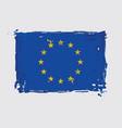 european union flag flat artistic brush strokes vector image