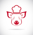 image of an pig chef vector image vector image