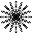 Black and White Abstract Psychedelic Art vector image vector image