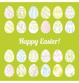 Decorative card with Easter eggs vector image vector image