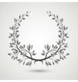 silver laurel wreath vector image