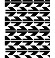 Seamless pattern with arrows black and white vector image