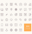 SEO Outline Icons for web and mobile apps vector image