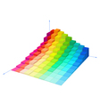 volumetric multi-colored diagram vector image vector image