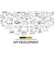 Sketch Circular appDevelppment vector image