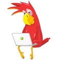 Funny Parrot Coder vector image vector image