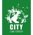 Eco design City icon Flat vector image