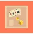 flat icon on stylish background poker board card vector image