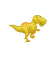 cartoon tyrannosaurus rex prehistoric reptile vector image