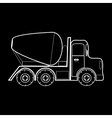 Concrete mixer vehicle construction roads vector image