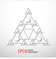 magic white triangle with recursive 3d sacral vector image