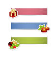 ribbons with stickers vector image