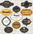 Set of isolated Thanksgiving frames and labels vector image