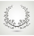 silver laurel wreath vector image