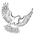 Stylized Dove vector image