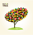 abstract colorful tree geometrical vector image